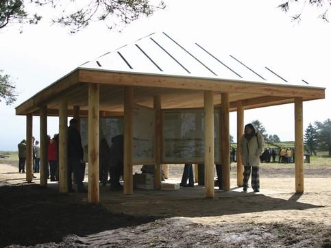 Informationsbygning - Udendørs opholdsrum