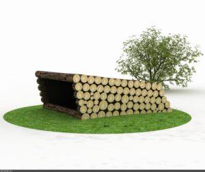 Tømmershelter - Udendørs opholdsrum